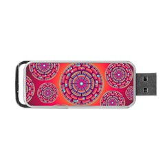 Pretty Floral Geometric Pattern Portable Usb Flash (one Side) by LovelyDesigns4U
