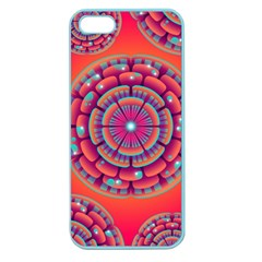 Pretty Floral Geometric Pattern Apple Seamless Iphone 5 Case (color) by LovelyDesigns4U