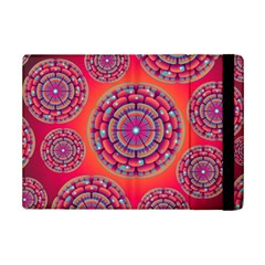 Pretty Floral Geometric Pattern Ipad Mini 2 Flip Cases by LovelyDesigns4U