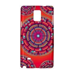 Pretty Floral Geometric Pattern Samsung Galaxy Note 4 Hardshell Case
