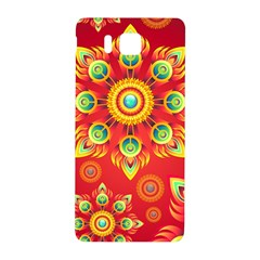 Red And Orange Floral Geometric Pattern Samsung Galaxy Alpha Hardshell Back Case by LovelyDesigns4U