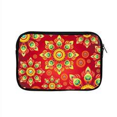 Red And Orange Floral Geometric Pattern Apple Macbook Pro 15  Zipper Case by LovelyDesigns4U