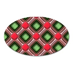 Gem Texture A Completely Seamless Tile Able Background Design Oval Magnet by Nexatart