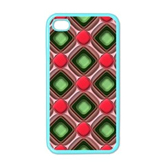 Gem Texture A Completely Seamless Tile Able Background Design Apple Iphone 4 Case (color) by Nexatart