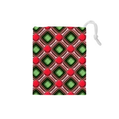 Gem Texture A Completely Seamless Tile Able Background Design Drawstring Pouches (small)  by Nexatart