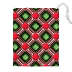 Gem Texture A Completely Seamless Tile Able Background Design Drawstring Pouches (xxl) by Nexatart