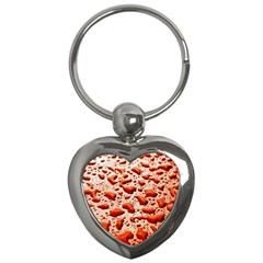 Water Drops Background Key Chains (heart)  by Nexatart