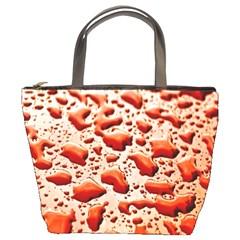 Water Drops Background Bucket Bags