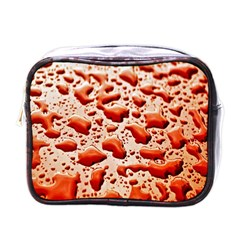 Water Drops Background Mini Toiletries Bags by Nexatart
