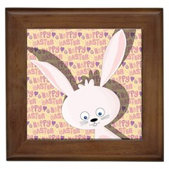 Easter Bunny  Framed Tiles by Valentinaart