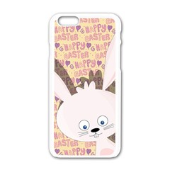 Easter Bunny  Apple Iphone 6/6s White Enamel Case by Valentinaart