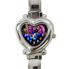 Abstract Artwork Of A Old Truck Heart Italian Charm Watch