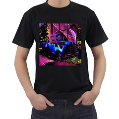 Abstract Artwork Of A Old Truck Men s T Shirt (black) (two Sided)
