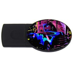Abstract Artwork Of A Old Truck Usb Flash Drive Oval (4 Gb) by Nexatart