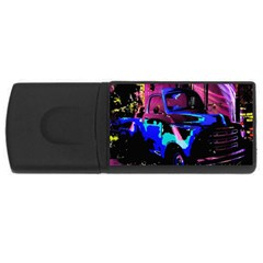 Abstract Artwork Of A Old Truck Usb Flash Drive Rectangular (4 Gb)