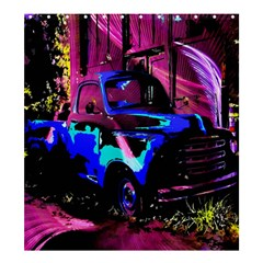 Abstract Artwork Of A Old Truck Shower Curtain 66  X 72  (large)  by Nexatart