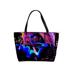 Abstract Artwork Of A Old Truck Shoulder Handbags by Nexatart