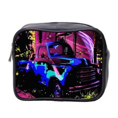 Abstract Artwork Of A Old Truck Mini Toiletries Bag 2 Side by Nexatart