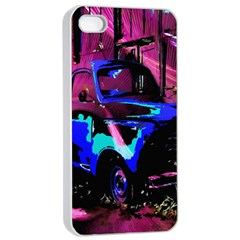 Abstract Artwork Of A Old Truck Apple Iphone 4/4s Seamless Case (white) by Nexatart