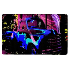 Abstract Artwork Of A Old Truck Apple Ipad 3/4 Flip Case by Nexatart