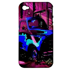 Abstract Artwork Of A Old Truck Apple Iphone 4/4s Hardshell Case (pc+silicone)