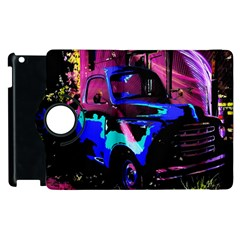 Abstract Artwork Of A Old Truck Apple Ipad 2 Flip 360 Case by Nexatart
