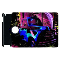 Abstract Artwork Of A Old Truck Apple Ipad 3/4 Flip 360 Case by Nexatart