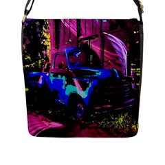 Abstract Artwork Of A Old Truck Flap Messenger Bag (l)
