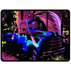 Abstract Artwork Of A Old Truck Double Sided Fleece Blanket (large)