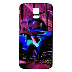 Abstract Artwork Of A Old Truck Samsung Galaxy S5 Back Case (white) by Nexatart