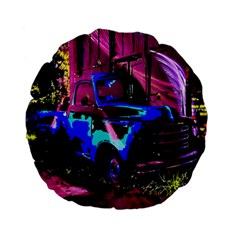 Abstract Artwork Of A Old Truck Standard 15  Premium Flano Round Cushions by Nexatart