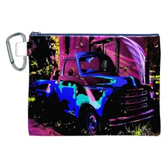 Abstract Artwork Of A Old Truck Canvas Cosmetic Bag (xxl) by Nexatart