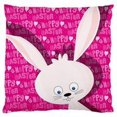 Easter bunny  Large Cushion Case (Two Sides) by Valentinaart