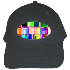 Glitch Art Abstract Black Cap by Nexatart