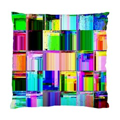 Glitch Art Abstract Standard Cushion Case (one Side)