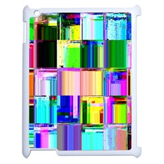 Glitch Art Abstract Apple Ipad 2 Case (white) by Nexatart