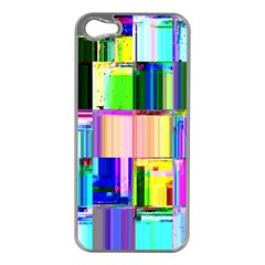 Glitch Art Abstract Apple Iphone 5 Case (silver)