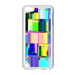 Glitch Art Abstract Apple Ipod Touch 5 Case (white) by Nexatart