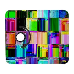 Glitch Art Abstract Galaxy S3 (flip/folio) by Nexatart