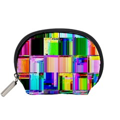 Glitch Art Abstract Accessory Pouches (small)
