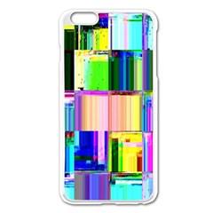 Glitch Art Abstract Apple Iphone 6 Plus/6s Plus Enamel White Case