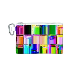 Glitch Art Abstract Canvas Cosmetic Bag (s) by Nexatart