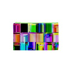 Glitch Art Abstract Cosmetic Bag (xs) by Nexatart