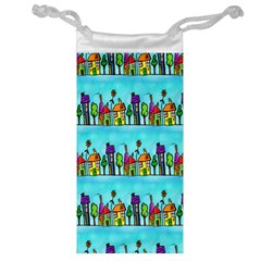 Colourful Street A Completely Seamless Tile Able Design Jewelry Bag by Nexatart