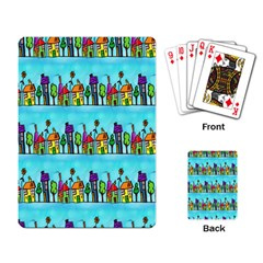 Colourful Street A Completely Seamless Tile Able Design Playing Card by Nexatart