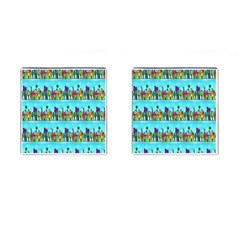 Colourful Street A Completely Seamless Tile Able Design Cufflinks (square)