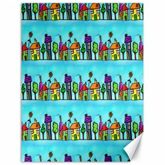 Colourful Street A Completely Seamless Tile Able Design Canvas 18  X 24   by Nexatart