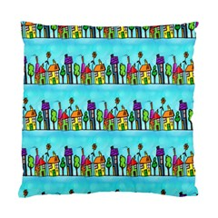 Colourful Street A Completely Seamless Tile Able Design Standard Cushion Case (two Sides) by Nexatart