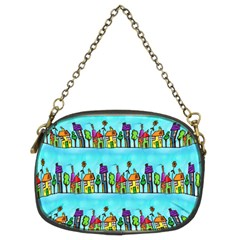 Colourful Street A Completely Seamless Tile Able Design Chain Purses (two Sides)  by Nexatart