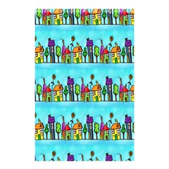 Colourful Street A Completely Seamless Tile Able Design Shower Curtain 48  X 72  (small)  by Nexatart